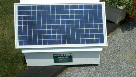 Make any battery electric fence charger solar powered