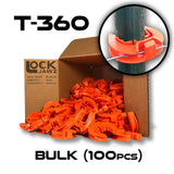 Lock Jawz 360° T-Post Insulator | 100 Pack | Orange | Free USA Shipping - CYCLOPS ELECTRIC FENCE CHARGERS