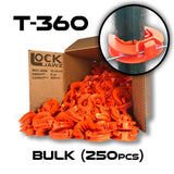 Lock Jawz 360° T-Post Insulator | 250 Pack | Orange | Free USA Shipping - CYCLOPS ELECTRIC FENCE CHARGERS