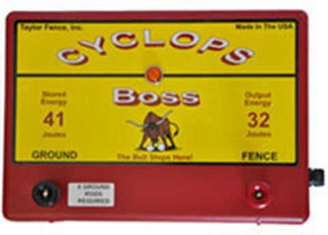 Cyclops BOSS, 32 Joule, 1000 Acre, 110V AC Powered Energizer | Free USA Shipping - CYCLOPS ELECTRIC FENCE CHARGERS