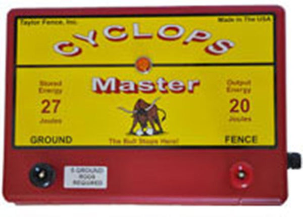 Cyclops MASTER, 20 Joule, 640 Acre, 110V AC Powered Energizer | Free USA Shipping - CYCLOPS ELECTRIC FENCE CHARGERS