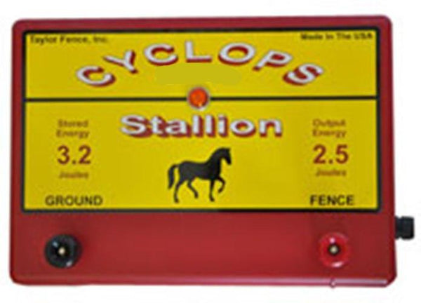 Cyclops STALLION, 2.5 Joule, 25 Acre, 110V AC Powered Energizer | Free USA Shipping - CYCLOPS ELECTRIC FENCE CHARGERS