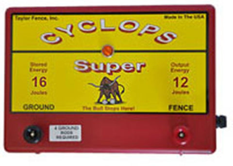Cyclops SUPER, 12 Joule, 200 Acre, 110V AC Powered Energizer | Free USA Shipping - CYCLOPS ELECTRIC FENCE CHARGERS