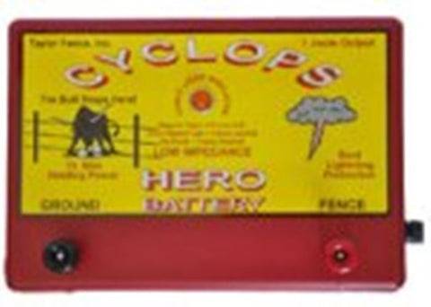 Cyclops HERO, 1.5 Joule, 15 Acre, 12V Battery Powered Energizer | Free USA Shipping - CYCLOPS ELECTRIC FENCE CHARGERS