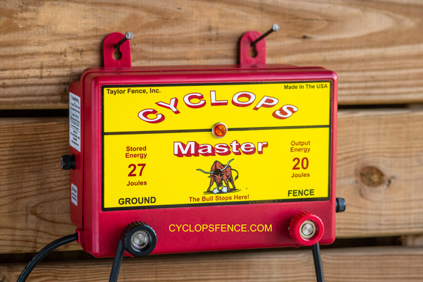 Cyclops MASTER, 20 Joule, 640 Acre, 110V AC Powered Electric Fence Charger Energizer | Free USA Shipping  Edit alt text