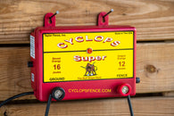 Cyclops SUPER, 12 Joule, 200 Acre, 110V AC Powered Electric Fence Charger Energizer | Free USA Shipping