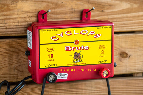 Cyclops BRUTE, 8 Joule, 100 Acre, 110V AC Powered Energizer | Free USA Shipping - CYCLOPS ELECTRIC FENCE CHARGERS