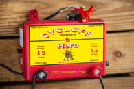Cyclops HERO, 1.5 Joule, 15 Acre, 12V Battery Powered Electric Fence Charger Energizer | Free USA Shipping -