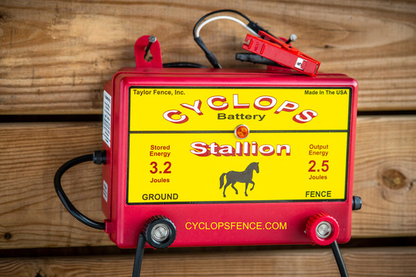 Cyclops STALLION, 2.5 Joule, 25 Acre, 12V Battery Powered Energizer | Free USA Shipping - CYCLOPS ELECTRIC FENCE CHARGERS