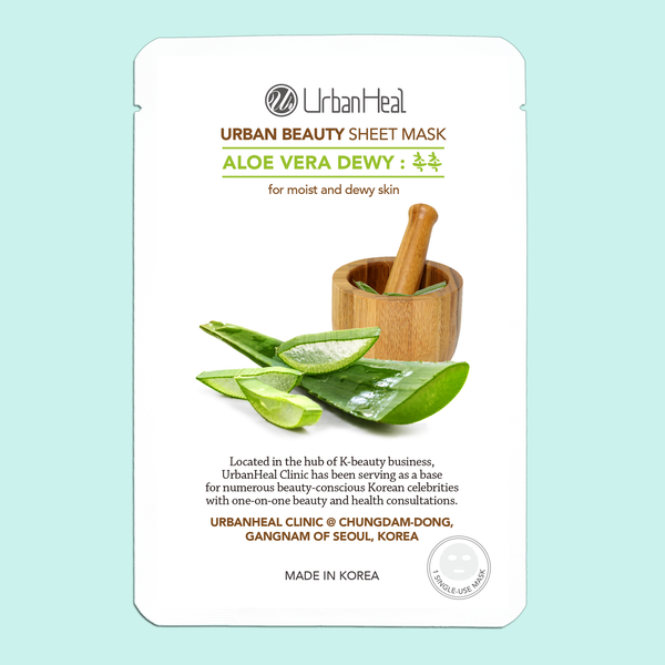 ALOE VERA DEWY : 촉촉 FACIAL SHEET MASK - 1 Sheet