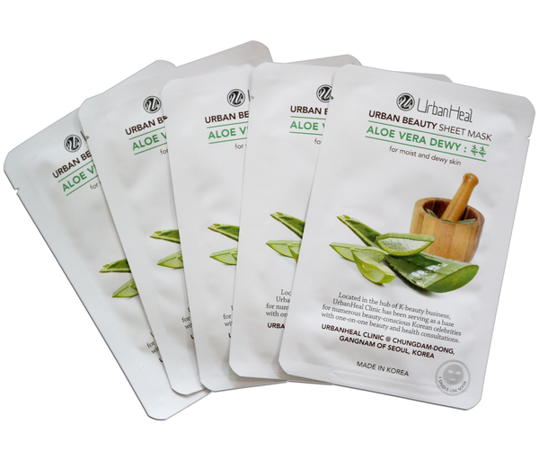 ALOE VERA DEWY : 촉촉 FACIAL SHEET MASK - 5 Pack