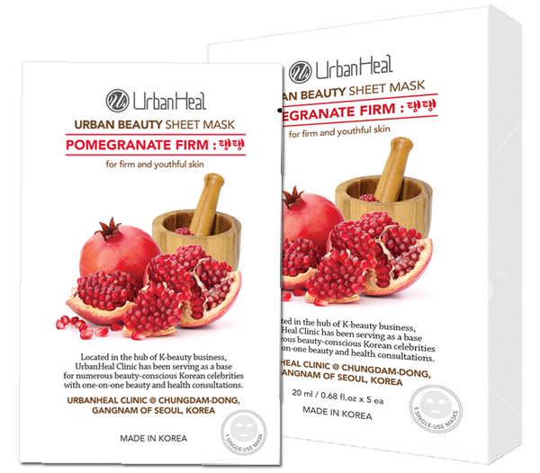 POMEGRANATE FIRM : 탱탱 FACIAL SHEET MASK - 5 Pack