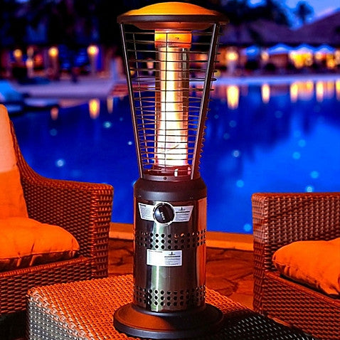 Lava Heat Italia Mini Ember Tabletop Liquid Propane Outdoor Heater in Gunmetal - www.outdoorheatingsolutions.com