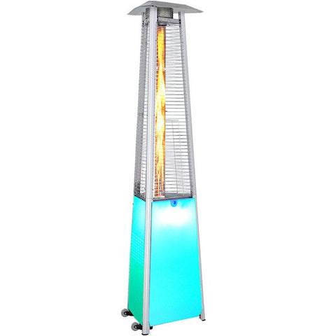 Multicolored Aluminum Contemporary Portable Propane Patio Heater