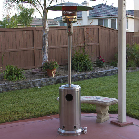 Crown Verity Stainless Steel Portable Propane Outdoor Patio Heater - 45,000 BTU - www.outdoorheatingsolutions.com
