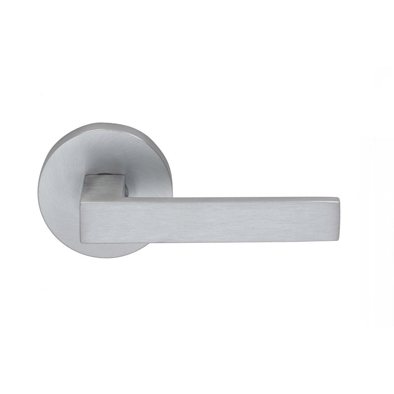 Omnia 930MDSD Square Single Dummy Door Lever with Modern Style Rose from the Prodigy Collection - Designer Entryway door locks access control intercoms home automation