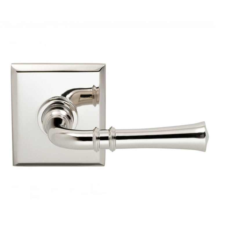 Omnia 785RTSD Single Dummy Door Lever with Traditional Lever and Rectangular Rose from the Prodigy Collection - Designer Entryway door locks access control intercoms home automation