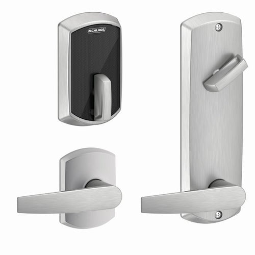 Schlage FE410F Control Interconnected Smart Deadbolt Greenwich trim w/ Jupiter lever