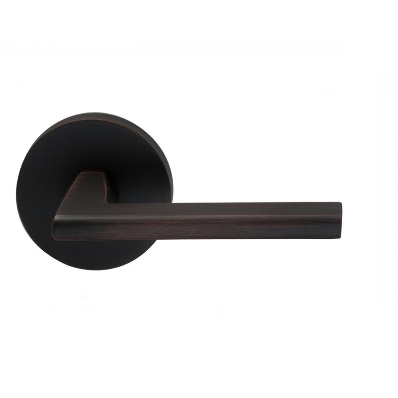 Omnia 925MDPR Wedge Privacy Door Lever Set with Modern Style Rose from the Prodigy Collection - Designer Entryway door locks access control intercoms home automation