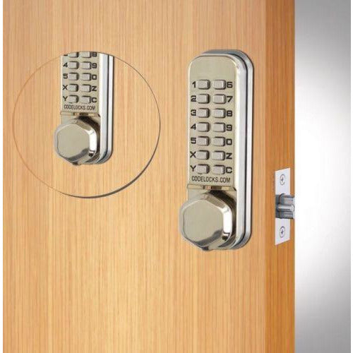 Codelocks Mechanical door lock  In/ Out Pushbutton CL290BB - Designer Entryway door locks access control intercoms home automation