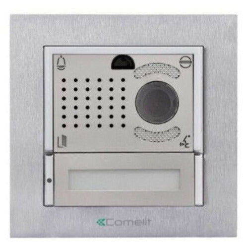 COMELIT 4895HIM Expansion Door Station IKALL METAL IP H264 Silver - Designer Entryway door locks access control intercoms home automation