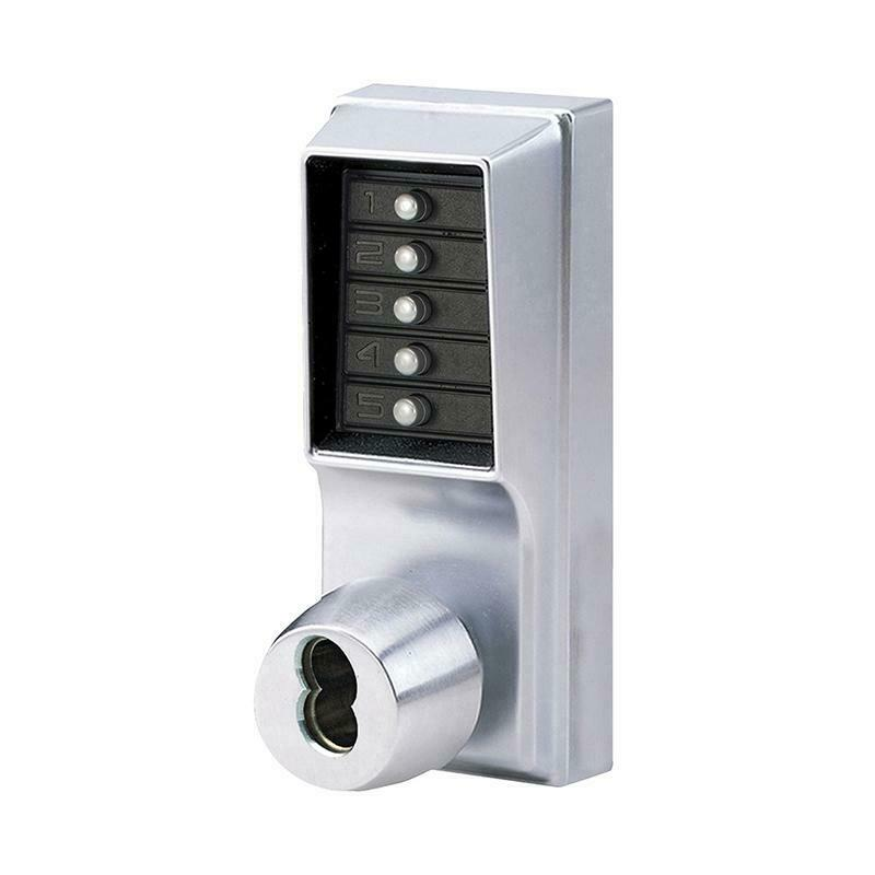 KABA SIMPLEX 1021-S-26D-41 Combination Knob Lock Schlage Keyway IC Core - Designer Entryway door locks access control intercoms home automation
