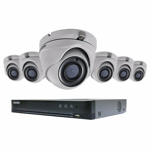 HIKVISION T7208U2TA6 8CH PERFORMANCE TURBO HDDVR KIT 6-5MP TURRET CAMERAS 2TB. - Designer Entryway door locks access control intercoms home automation