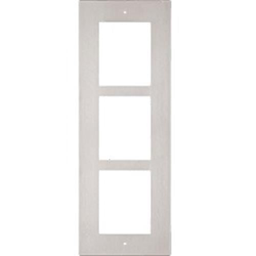 2N Flush Frame for 3 IP Verso Modules (Nickel) - Designer Entryway door locks access control intercoms home automation