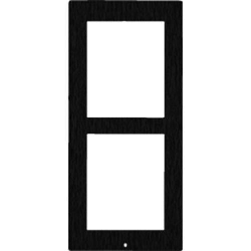 2N Surface Frame for 2 IP Verso Modules (Black) 01290-001 - Designer Entryway door locks access control intercoms home automation