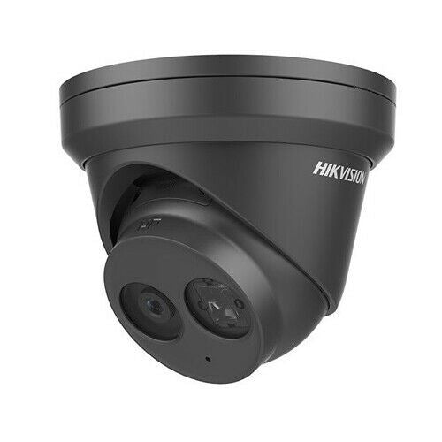 Hikvision DS-2CD2343G0-IB Black 4MP Outdoor Network Turret Camera w/2.8mm Lens.