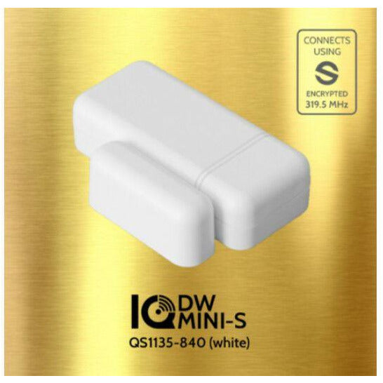 QOLSYS QS1135-840 IQ Mini DW S-LINE (WHITE) - window & door sensor. - Designer Entryway door locks access control intercoms home automation