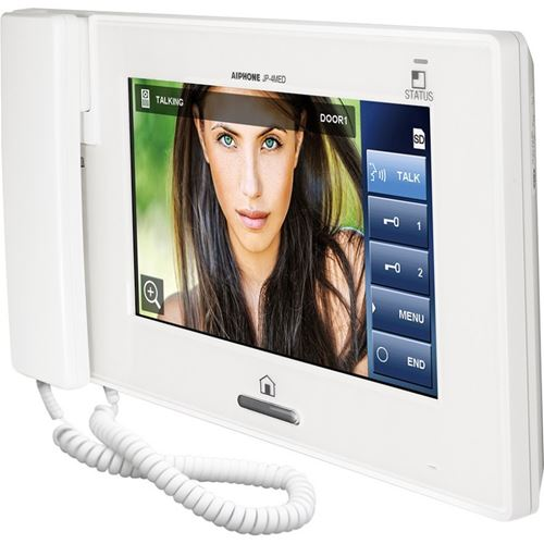 "Aiphone JP-4MED 7"" Video Master Station with Touchscreen LCD - Designer Entryway door locks access control intercoms home automation"