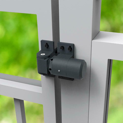 D&D Technologies Surface Heavy Duty, Aluminum Hydraulic Closer Hinge F/ Gates - Designer Entryway door locks access control intercoms home automation