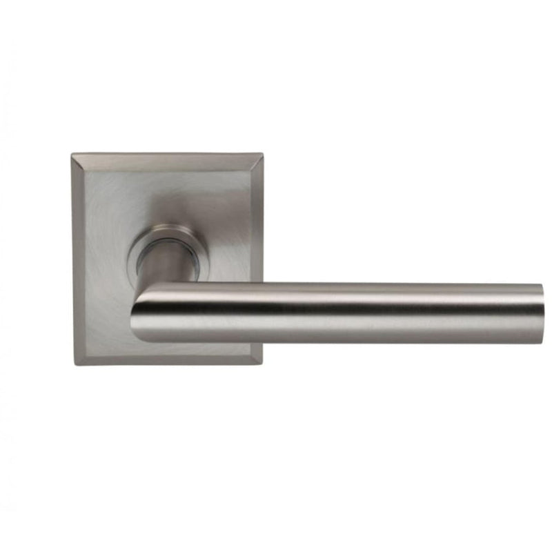 Omnia 912RTSD Single Dummy Door Lever with Modern Lever and Rectangular Rose from the Prodigy Collection - Designer Entryway door locks access control intercoms home automation
