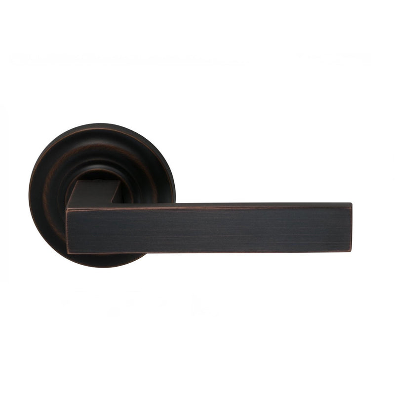 Omnia 930TDPD Square Dummy Door Lever Set with Traditional Style Rose from the Prodigy Collection - Designer Entryway door locks access control intercoms home automation