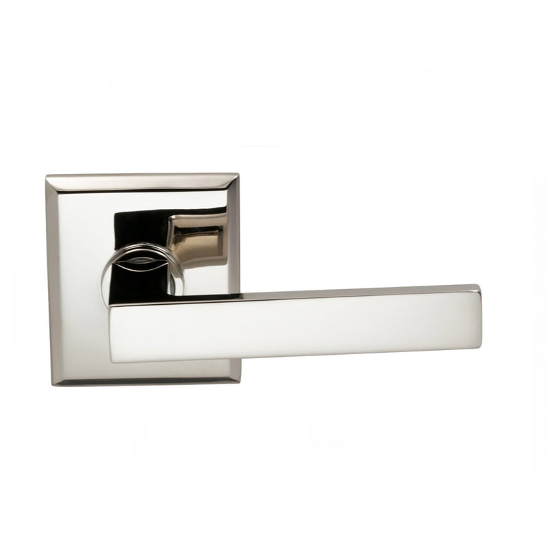 Omnia 930RTPD Square Dummy Door Lever Set with Rectangular Style Rose from the Prodigy Collection - Designer Entryway door locks access control intercoms home automation