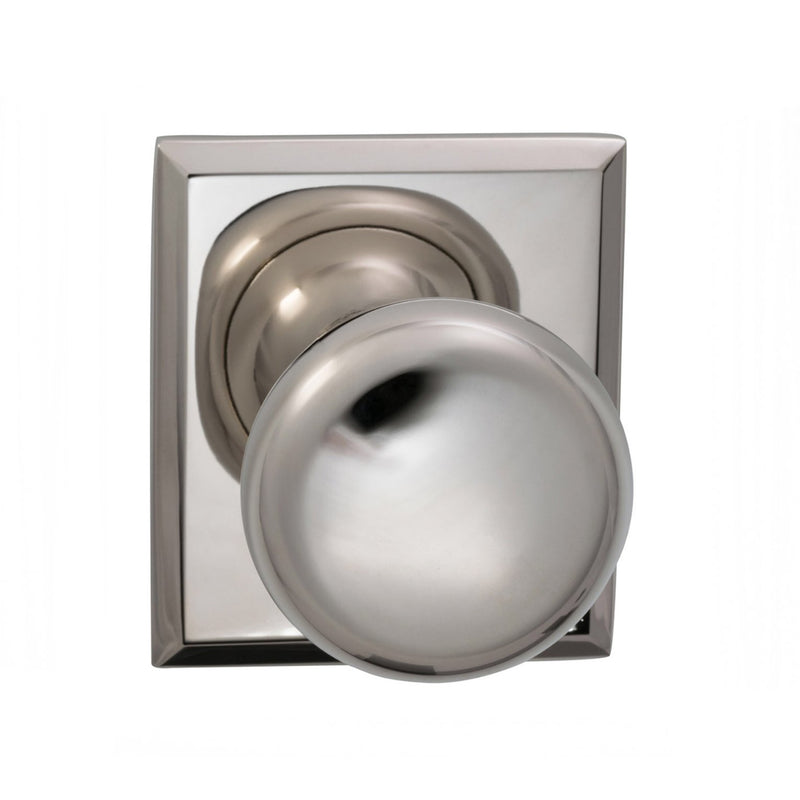 Omnia 458RTSD Single Dummy Door Knob with Colonial Knob and Rectangular Rose from the Prodigy Collection - Designer Entryway door locks access control intercoms home automation