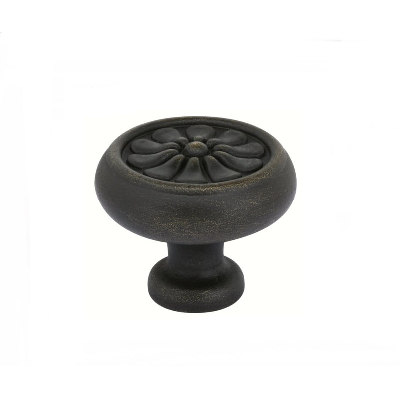 Emtek 86095 1 Inch Tuscany Bronze Petal Knob - Designer Entryway door locks access control intercoms home automation