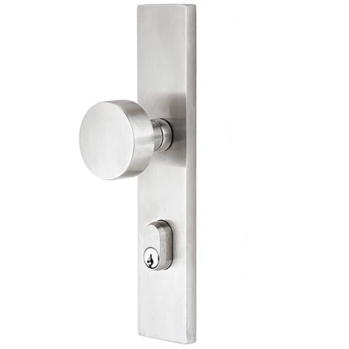 Emtek D9042 Stretto Sideplate Dummy EntrySet. - Designer Entryway door locks access control intercoms home automation