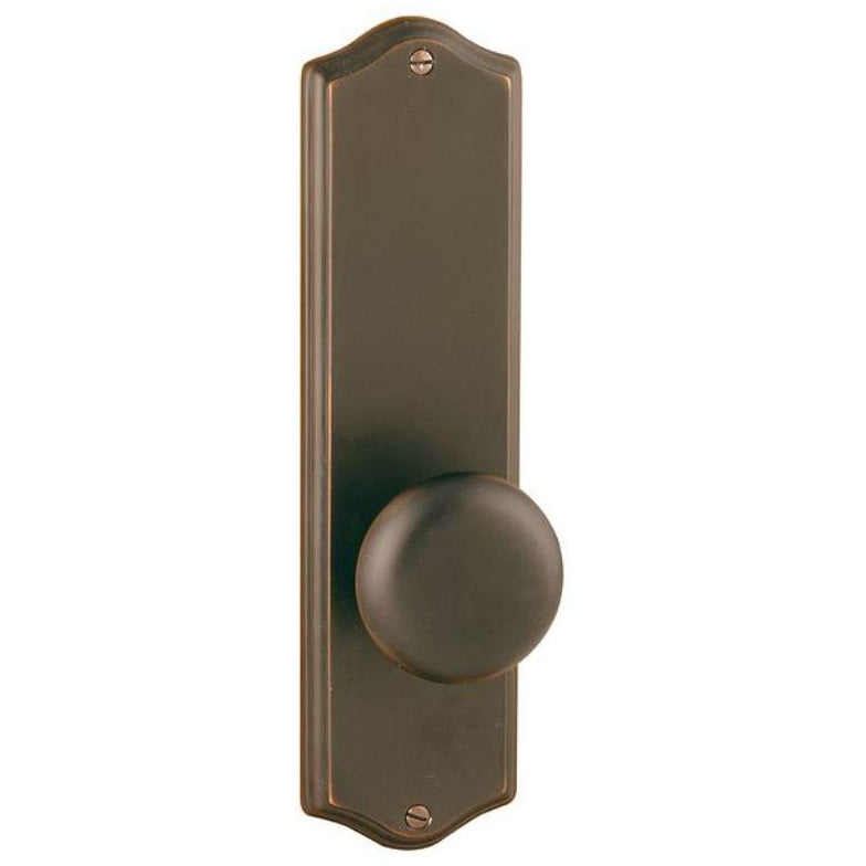 "-Emtek 8711 9"" Height Colonial Sideplate Classic Brass Passage Entry Set - Designer Entryway door locks access control intercoms home automation"