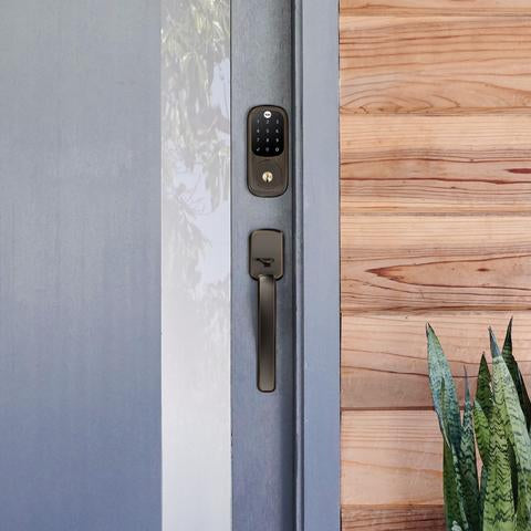 Yale Assure Touchscreen Deadbolt w/Ridgefield Handleset connected by august - Designer Entryway door locks access control intercoms home automation