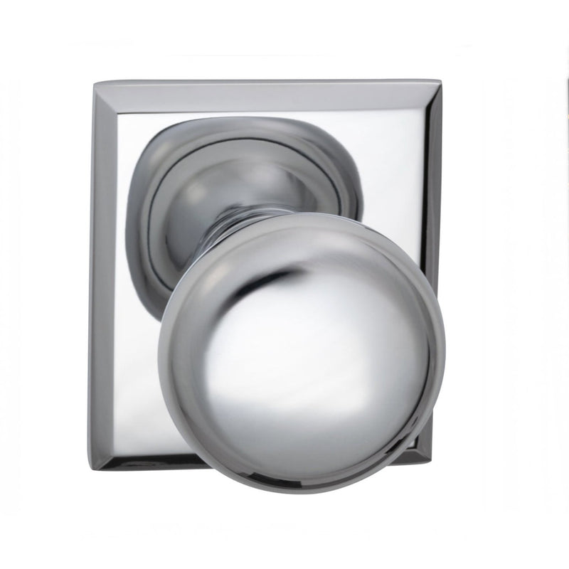 Omnia 458RTPR Privacy Door Knob Set with Colonial Knob and Rectangular Rose from the Prodigy Collection - Designer Entryway door locks access control intercoms home automation