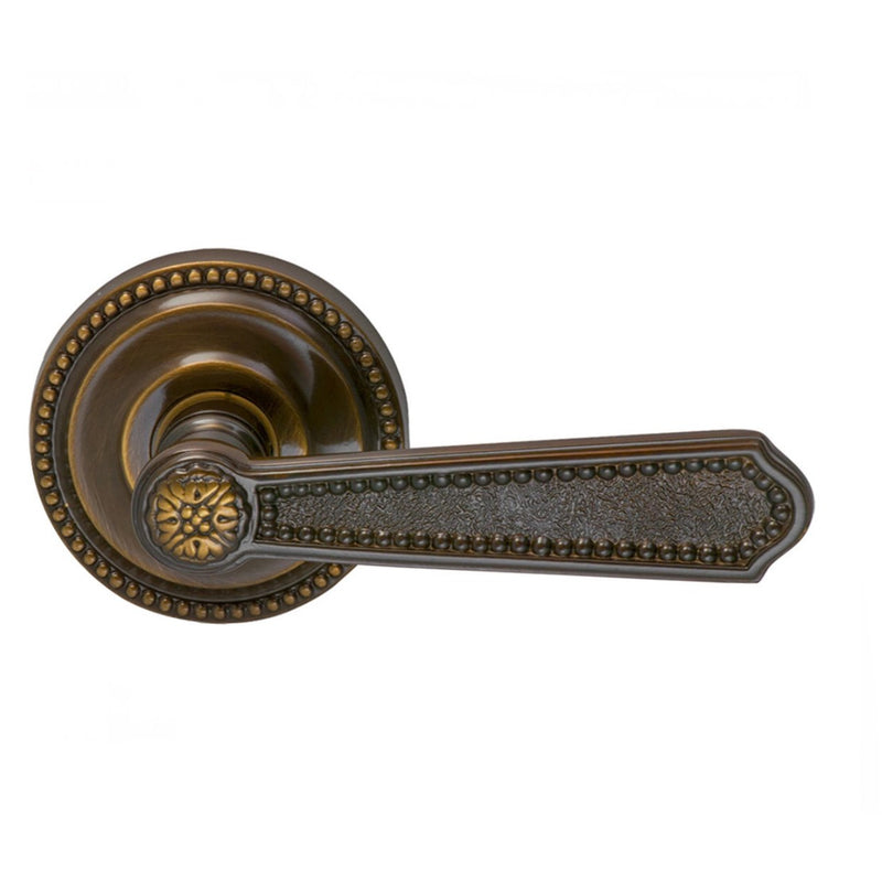 "Omnia 235PA Passage Door Leverset featuring 2-5/8"" Round Beaded Rosettes from the Latchsets Collection - Designer Entryway door locks access control intercoms home automation"