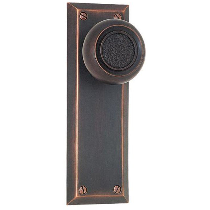 Emtek 8204 Quincy Sideplate Classic Brass Privacy EntrySet. - Designer Entryway door locks access control intercoms home automation