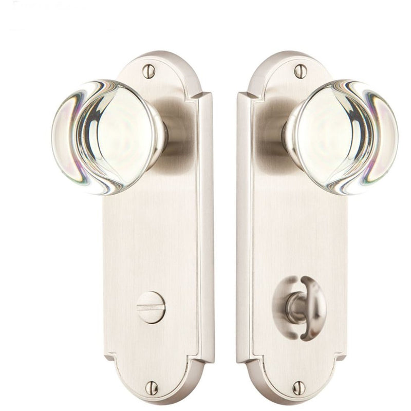 -Emtek 8228 Delaware Series Thumbturn Privacy with Tall Backplate From the American Classic Collection - Designer Entryway door locks access control intercoms home automation