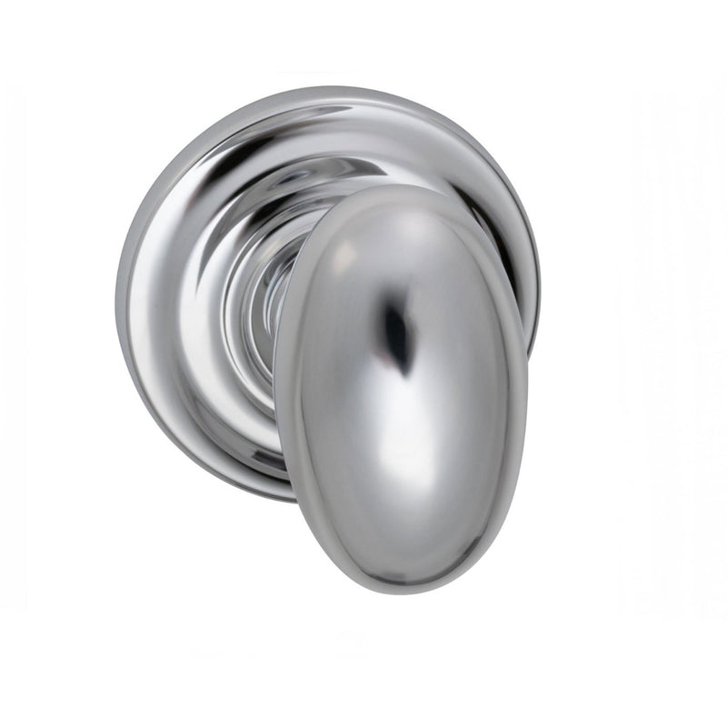 Omnia 434TDPR Privacy Door Knob Set with Egg Knob and Traditional Rose from the Prodigy Collection - Designer Entryway door locks access control intercoms home automation