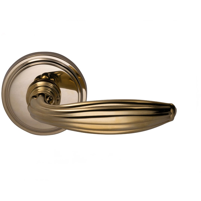 "Omnia 192/00PR Privacy Door Lever Set with 2-5/8"" Round Rosettes from the Traditions II Collection - Designer Entryway door locks access control intercoms home automation"