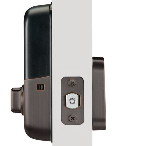 Yale YRD136-ZW2 Keyless Smart Push Button Deadbolt lock Z-Wave Plus - Designer Entryway door locks access control intercoms home automation
