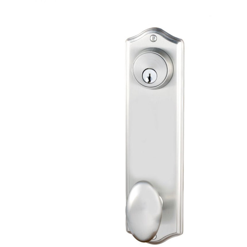 Emtek 8990 Colonial Sideplate Classic Brass Single Cylinder Entry Set. - Designer Entryway door locks access control intercoms home automation