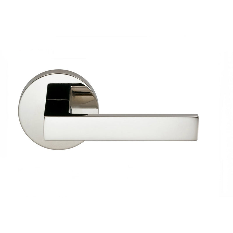 Omnia 930MDPA Square Passage Door Lever Set with Modern Style Rose from the Prodigy Collection - Designer Entryway door locks access control intercoms home automation